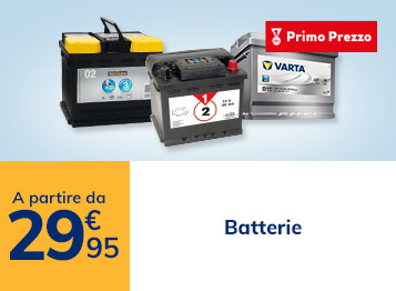 Batterie a partire da 29,95€