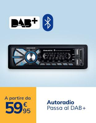 Autoradio DAB a partire da 59,95€