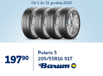 Opona Zimowa Barum Polaris 5 205/55R16 91T  tree