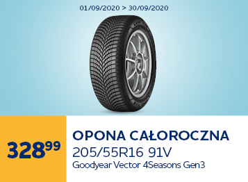 GOODYEAR VECTOR 4SEASONS G3 205/55R16 91V tree