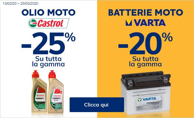 OLIO E BATTERIE MOTO