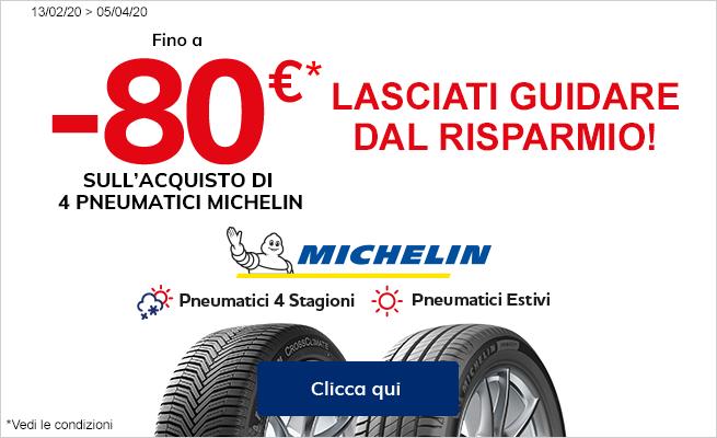 Pneumatici Michelin fino a -80€