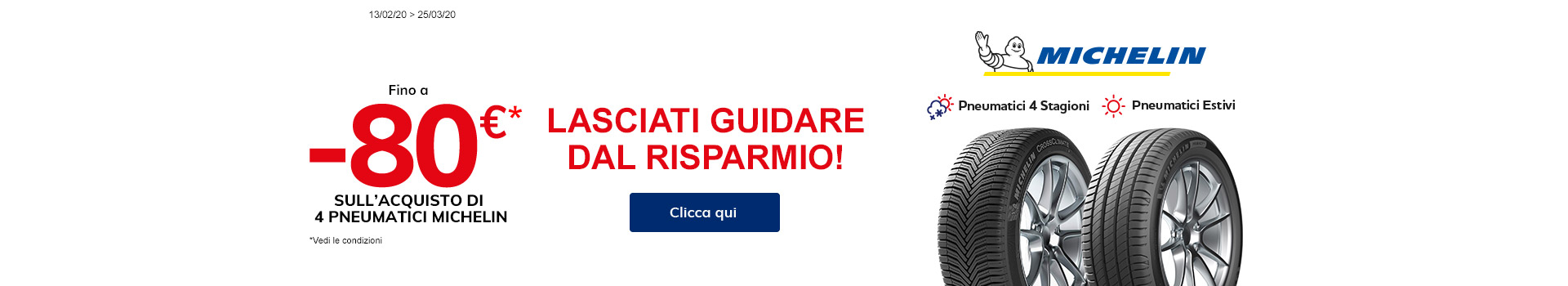 -80€ su Michelin Estate e 4 Stagione