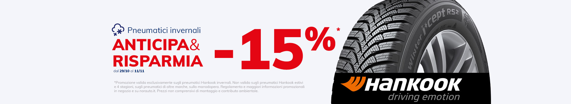 HANKOOK ANTICIPA E RISPARMIA -15%