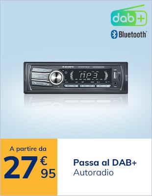 Autoradio DAB a partire da 27,95€