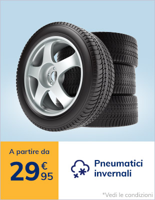 Pneumatici invernali a partire da 29,95€