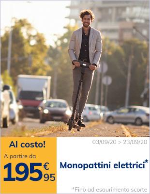 Monopattini elettrici pieghevoli a partire da 195,95€