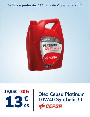 30% desconto em Óleo Cepsa Platinum 10W40 Synthetic 5L