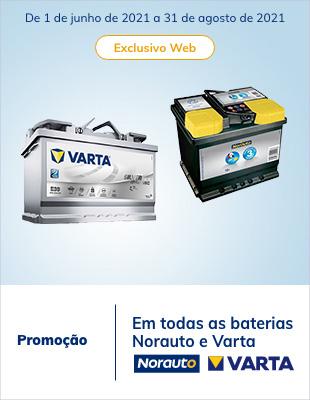 Promoção em todas as baterias Norauto e Varta