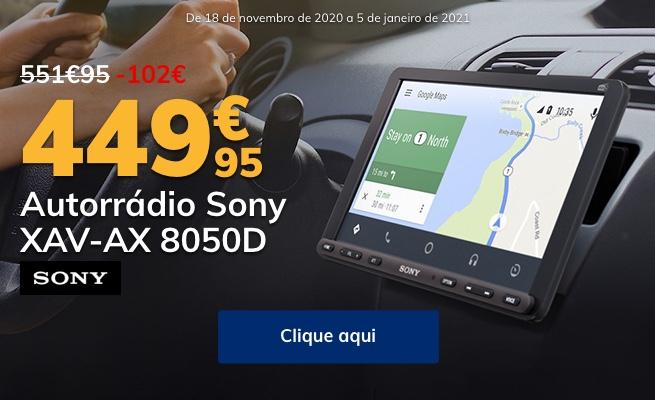 Poupe 102€ em autorrádio Sony XAV-AX 8050D