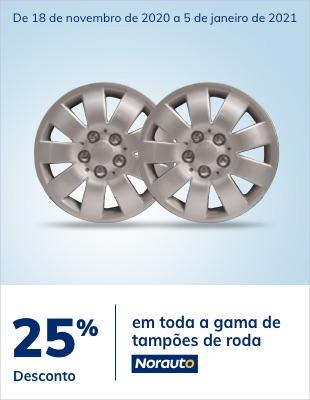 25% desconto em tampões de roda Norauto
