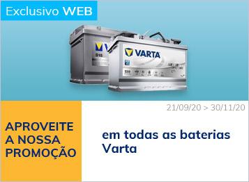 Promoção em todas as baterias Varta