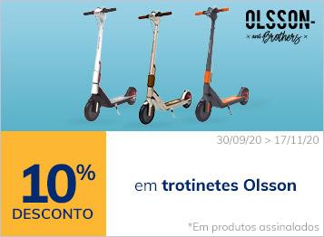 10% em trotinetes Olsson