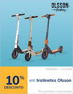 10% em trotinetes Olsson (em produtos assinalados)