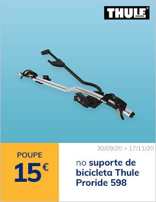 Poupe 15€ no suporte de bicicleta Thule Proride 598
