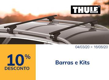 10% desconto barras e kits Thule
