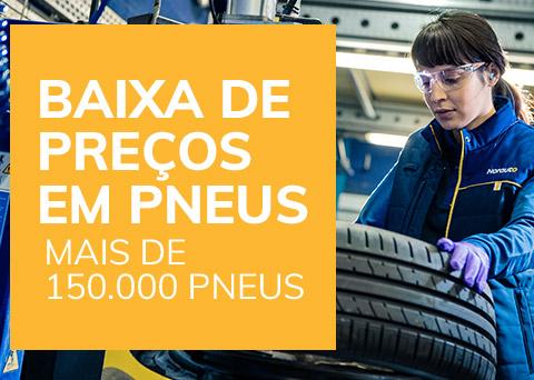 Baixa de preços em pneus