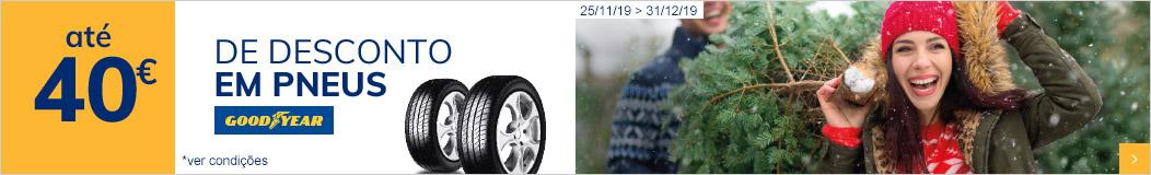 Uma prenda extra... até 40€ de desconto em pneus Goodyear