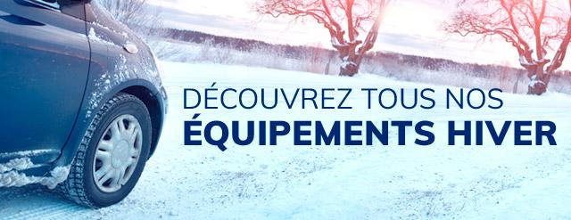 Découvrez tous nos équipements hiver