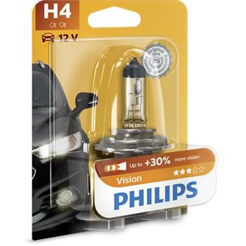 1 Ampoule Philips H4 Vision 60/55 W 12 V