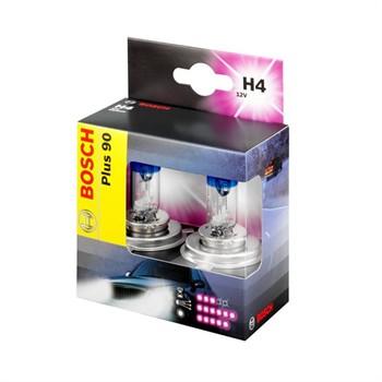 2 Ampoules Bosch H4 Plus 90 12 V