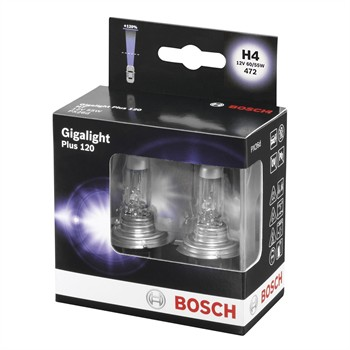 2 Ampoules Bosch H4 Giga Light 12 V