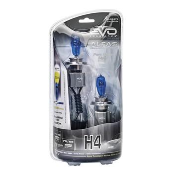 2 Ampoules Evo H4 Alfas Ultrawhite 85 W 12 V
