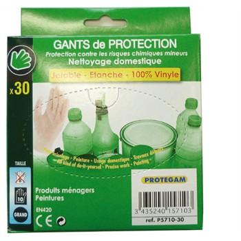 Boîte De 30 Gants En Vinyle Pour Entretien Taille 10