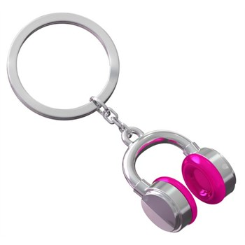 Porte-clés Meta[l]morphose Casque Gris Et Rose