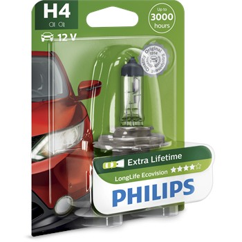 1 Ampoule Philips H4 Longlife Ecovision 60/55 W 12 V