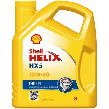 Huile moteur SHELL Helix HX5 15W40 Diesel 2 L