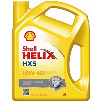Huile moteur SHELL Helix HX5 15W40 essence et diesel 5 L