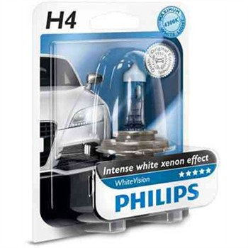 1 Ampoule Philips H4 Whitevision 12 V