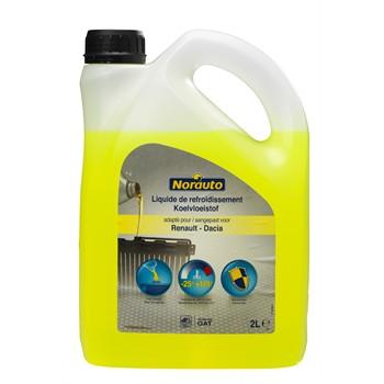 Liquide de refroidissement jaune -25°C NORAUTO 2 L