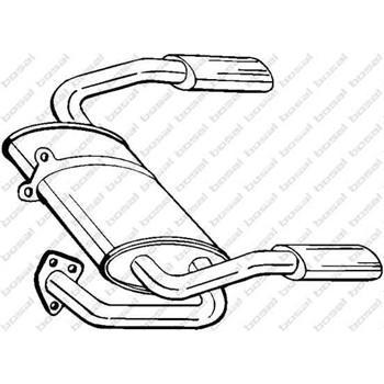 Silencieux arrière BOSAL 115-335