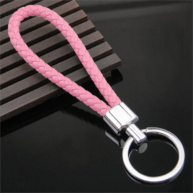 Porte-clés Tresse rose
