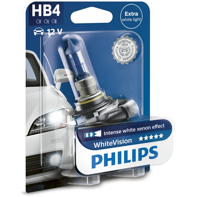 1 Ampoule Philips Hb4 Whitevision 55 W 12,8v