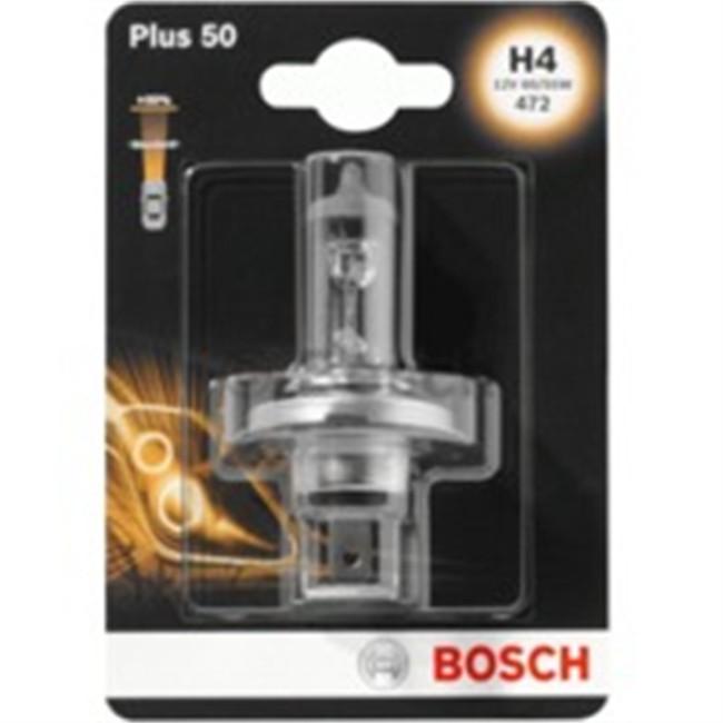 1 Ampoule Bosch H4 Plus 50/60 12 V