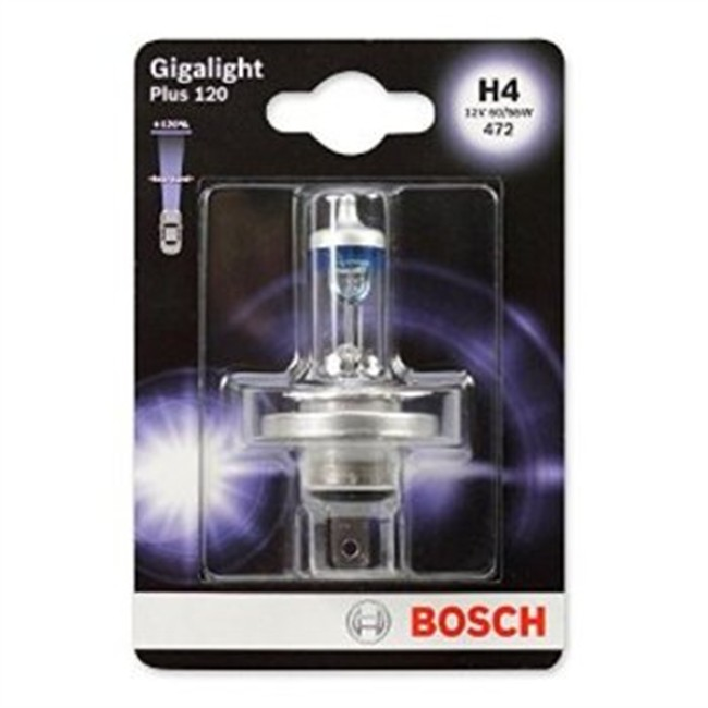 1 Ampoule Bosch H4 Giga Light 12 V