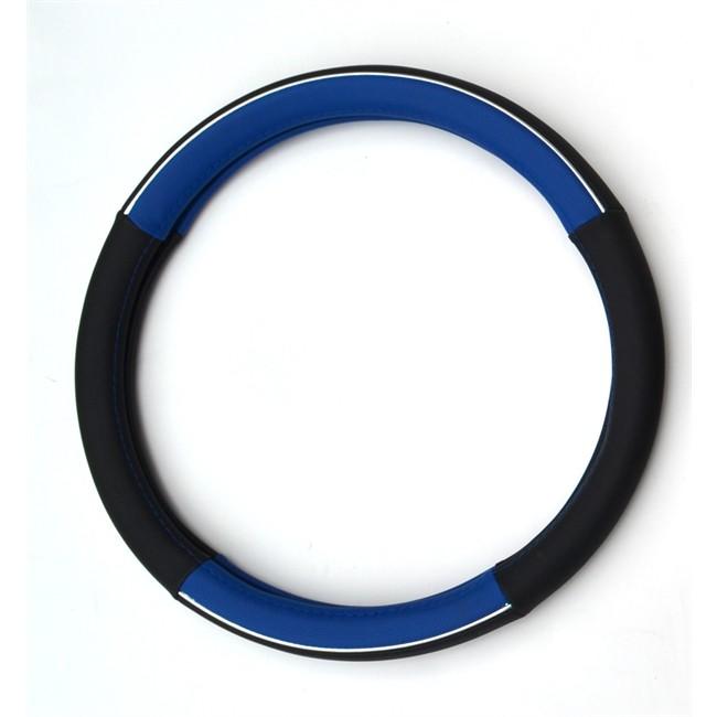 Couvre volant NORAUTO Tuning chromé / bleu