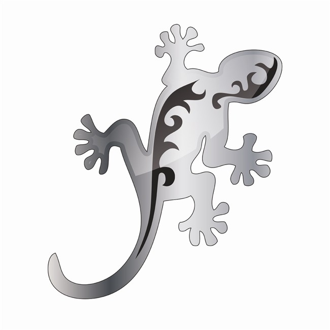 1 décor résine autocollant 3D Gecko