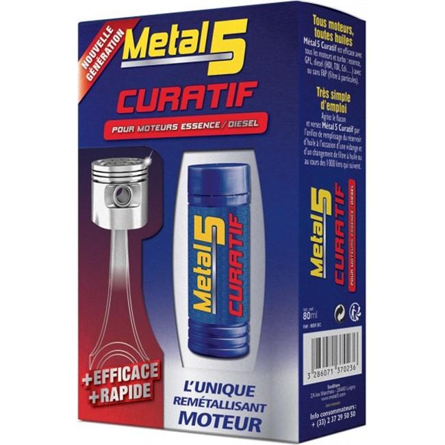Traitement Remétallisant moteur METAL 5 Curatif 80 ml
