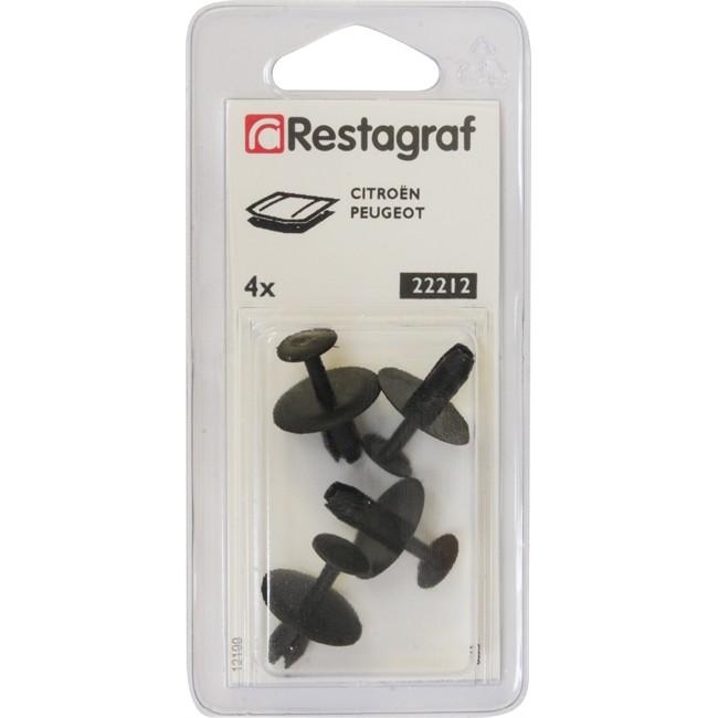 4 rivets plastique RESTAGRAF pour cache sur moteur