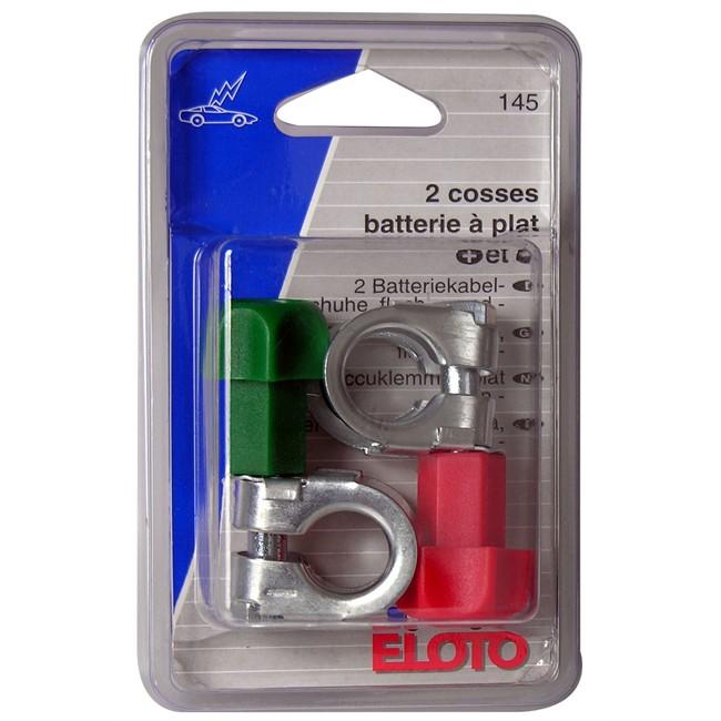 Cosses batteries à plat (+) et (-) ELOTO