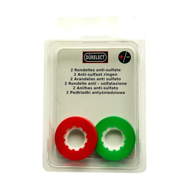 2 Rondelles anti sulfate rouge (+) et verte (-) DÜRELECT
