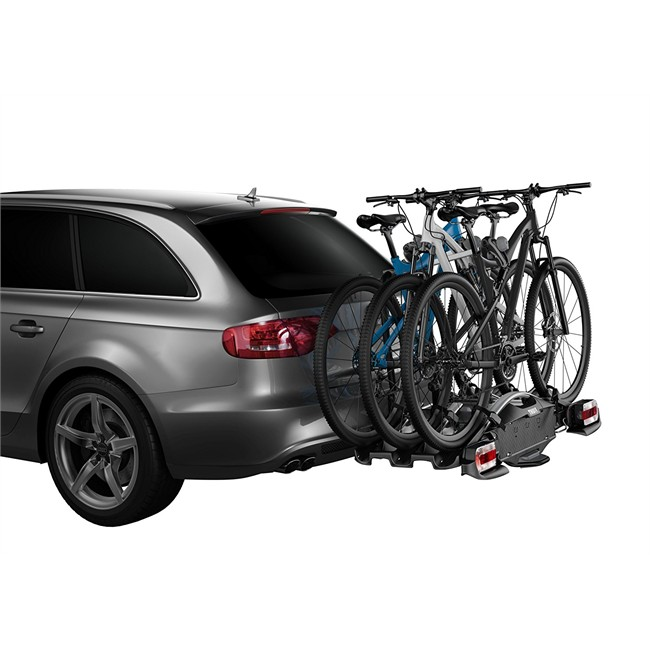 Porte-vélos d'attelage plate-forme THULE VeloCompact 927 pour 3 vélos