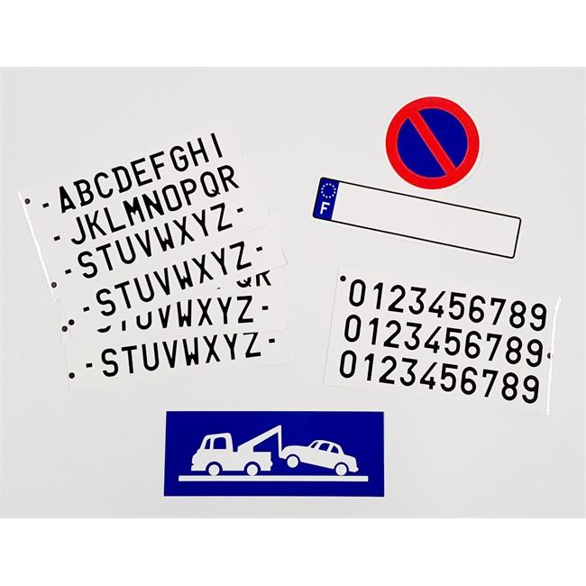 Kit défense de stationnement 1 disque et plaque d'immaticulation