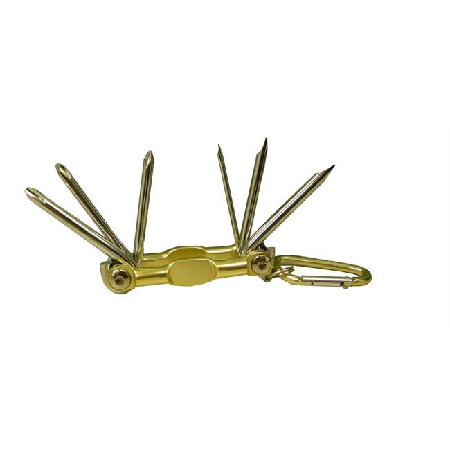 Porte-clés mousqueton 6 tournevis