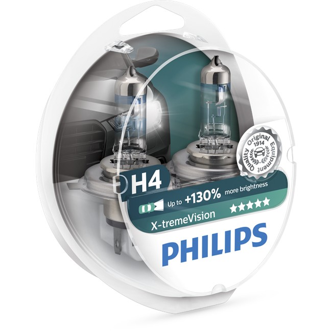 2 Ampoules Philips H4 X-tremevision 60/55 W 12 V