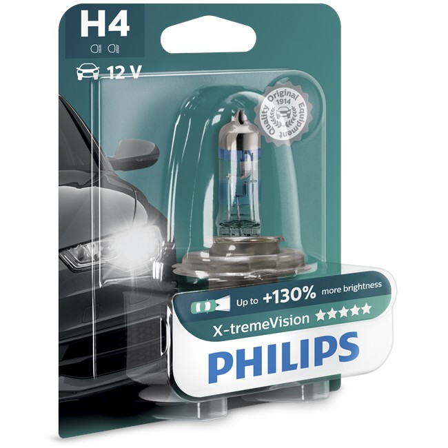 1 Ampoule Philips H4 X-tremevision 55 W 12 V